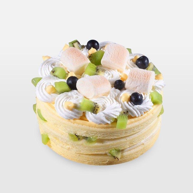 <巧思嗑系列>香草芒果水果綿綿雲 7吋蛋糕