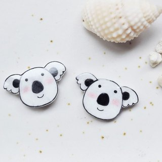 讨 hug koala handmade earrings anti-allergic ear earrings painless ear clip