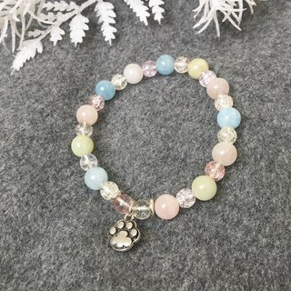 Pet Baby::Light Color - Natural Ores/Morgan Stone/Frozen Crystal/ 925 Silver/ Pendant/ Bracelet Bracelet Gift Customized Design