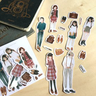 England Fashion Sticker Pack 16pcs