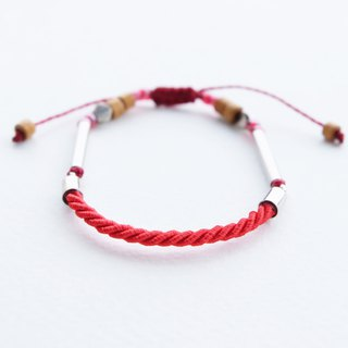 Red twisted rope adjustable bracelet unisex bracelet