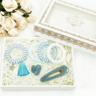 Lovely Hair Accessory Box Set (Pastel Blue)
