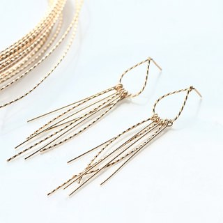 14 kgf - Twist tassel pierced earrings Impossible Rear Earbal