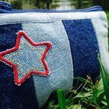 Sparking of Smiling Denim Coin Pouch
