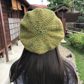 Ms. Forest Handmade Knitting - Green and Brown Hat / graduation color Berethat