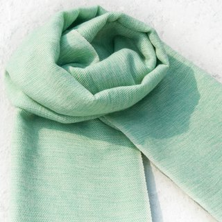 Wool shawl/knit scarf/knit shawl/covering/pure wool scarf/wool shawl-mint green tea