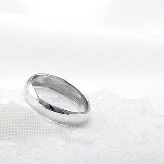 Simple plain sterling silver finger ring -6mm arc surface ring section
