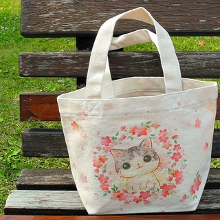 Sakura 喵喵 canvas tote / lunch bag