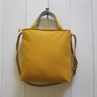 For She / he A4 Canvas Tote - Medium size (Zipper ClosureW / Adjusted Strap)