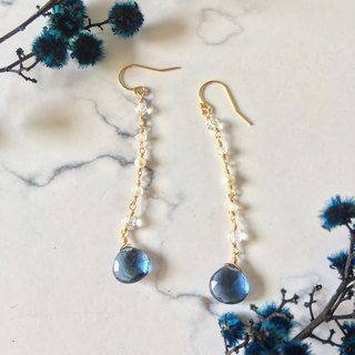 Handmade earrings London Blue Quartz