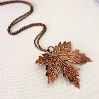 Ancient copper Maple Leaf Necklace