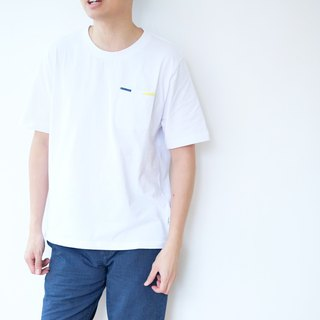 Embroidery Pocket Tee /cotton/shirt/henley