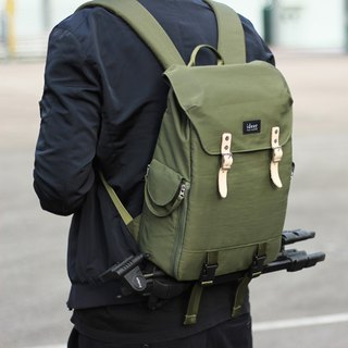 HUNTER series HUNTER 390 military green simple multi-use single-lens reflex camera backpack / backpack