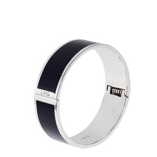 Solid black Cloisonne series solid color bracelet (silver) -01,800,159,001