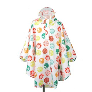 Waterproof breathable printed children's raincoats <flowers world>