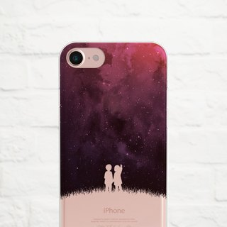 Under the Stars,Clear Soft Phone Case, iPhone, Samsung
