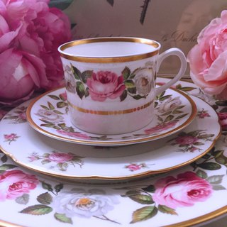 British bone china Royal Worcester 1960 hand-painted rose bone china coffee cup flower cup two-piece