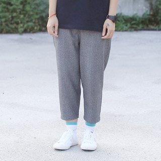 Gray Drawstring Cropped Pants - Only M