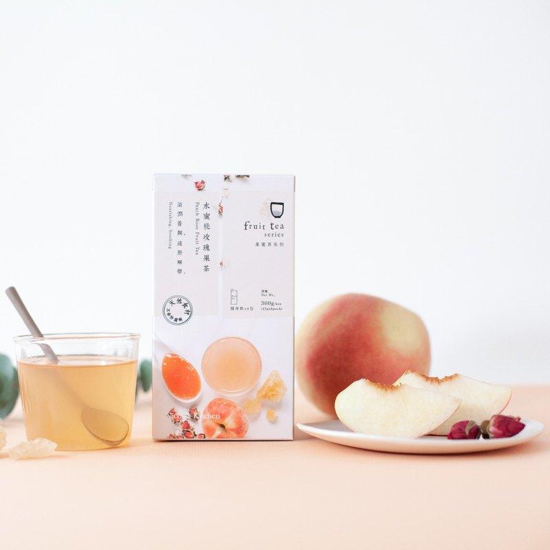 【果蜜茶隨身飲】水蜜桃玫瑰果茶 │ 滋潤養顏 疏肝解鬱