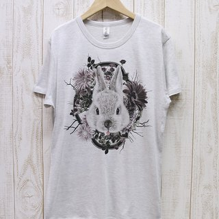 ronron RABIT Tee Flower Frame (Heather White) / RPT 044 - HWH