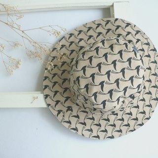 MaryWil handsome big hat hat - skin color birds (can be double-sided wear)