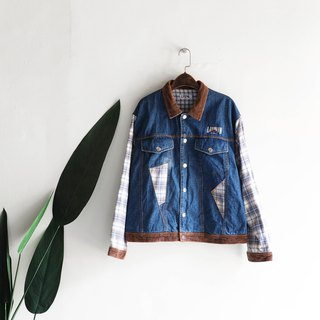 Hiroshima stitching youth dating youth party antique cotton denim shirt jacket coat oversize