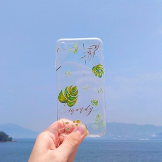 Mstandforc Botanical Leaves  Phone Case | Transparent | for iPhone and Android