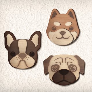 Watch dog log self-adhesive hook series (Shiba Inu, Law Fight, Bago)