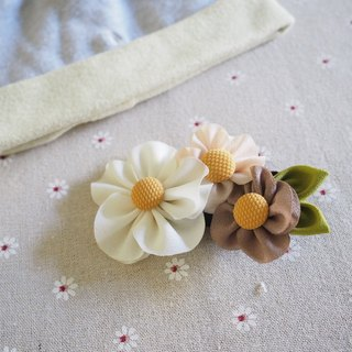 Handmade Fabric flower hair clip/ hair band