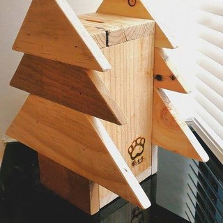 [Bear Ken Woodworking Workshop] Christmas Tree Bank