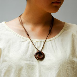 Wooden Koru necklace Wood Pendant