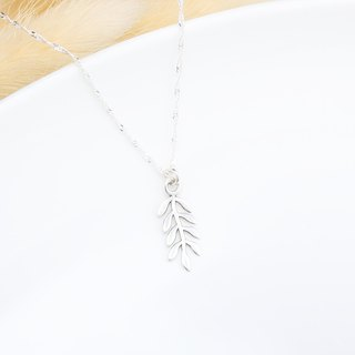 Laurel leaf s925 sterling silver necklace Birthday Valentine's Day gift