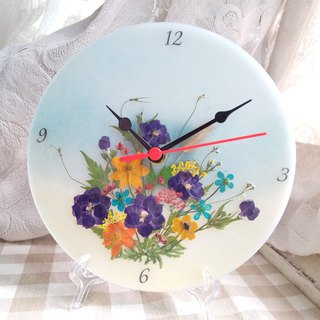 Dry Flowers, Pressed Flowers, Flowers Wall Clock