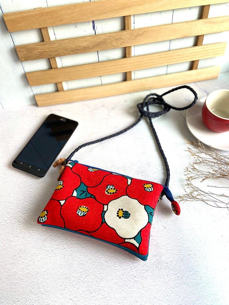 椿花五層斜背包(可放手機)(附贈蠟繩編織帶)母親節生日交換禮