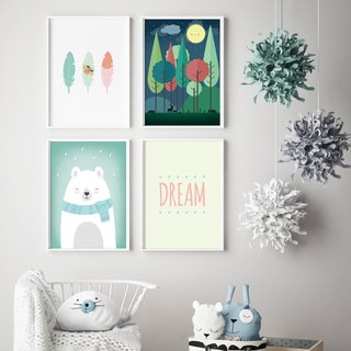 Woodland Nursery Decor Customizable posters