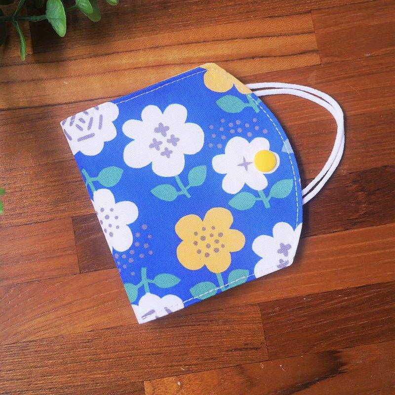 訂製款=口罩暫存套/口罩收納套=日本布料X甜美風=童話花園=明藍(共3色)
