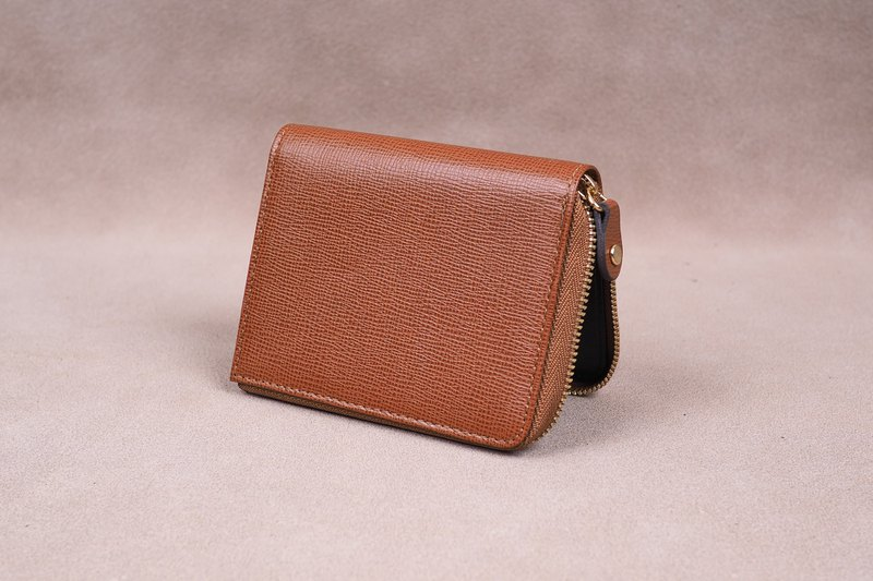 Zipper Wallet / Coin Wallet / Italy Cow Leather(Tan)