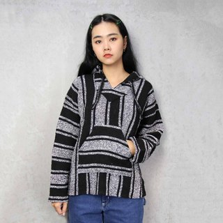 Tsubasa.Y Ancient House A01 black and white color matching Mexican wool hat Tee, Baja Hoodie