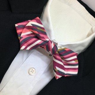 color bars bow tie red