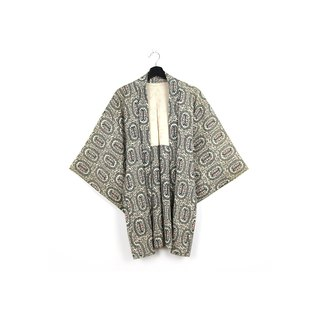 Back to Green-Japan with Hui Yu Weaving Full Pattern /vintage kimono
