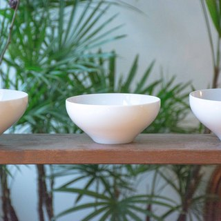 Constellation SECLUSION OF SAGE / white porcelain mushroom bowl