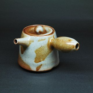 Soda glaze gun barrel mouth side of the teapot hand pottery tea props