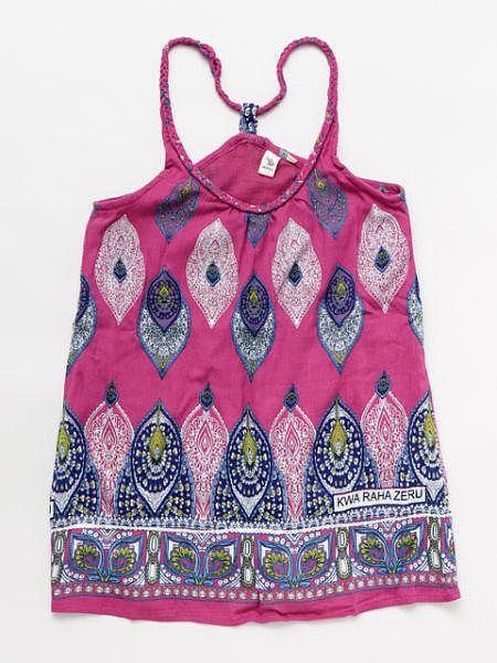 非洲圖案兒童無袖吊帶背心連衣裙110厘米