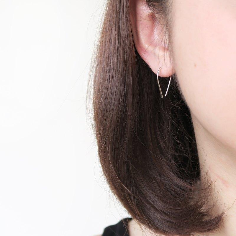 925純銀 輕銀耳飾-歐美風小U形 耳針耳環