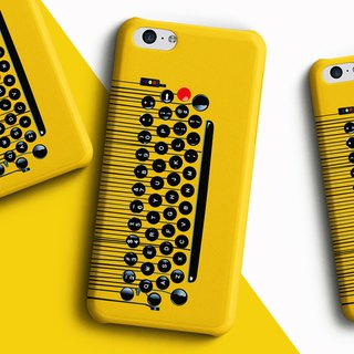 Type writer type pad - Yellow Phone case
