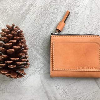 KAKU leather design leather L zipper wallet custom