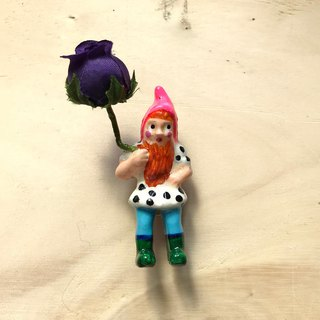 Mini Brooches-花園裡的地精My Garden Gnome (4款/別針)