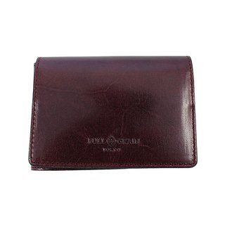 FULLGRAIN │ classic simple two fold wallet card holder dark purple