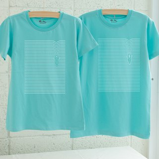 [Valentine's Day Gift] [Spreading Heart Lake] Couples / Short Sleeve T-shirt Friends, girlfriends