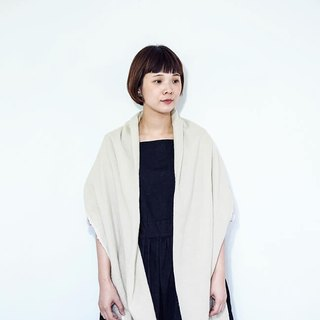Easy linen wool stole double